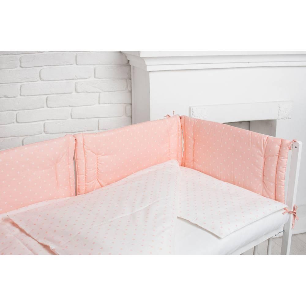 Комплекст рожевий в білий горошок