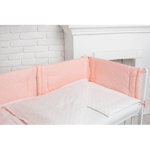 Комплекст розовый в белый горошек