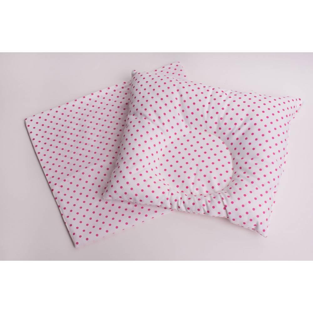 Подушка розовые кружочки