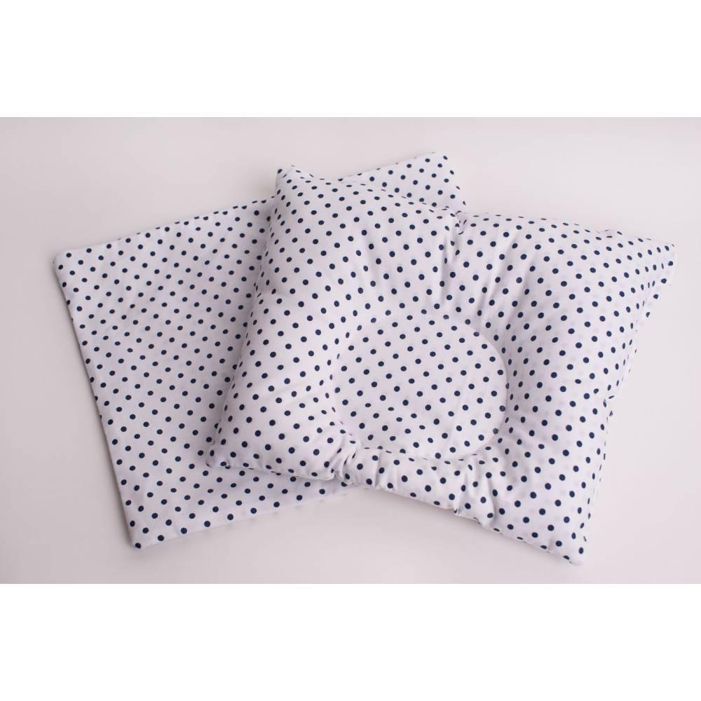 Подушка синии горошки