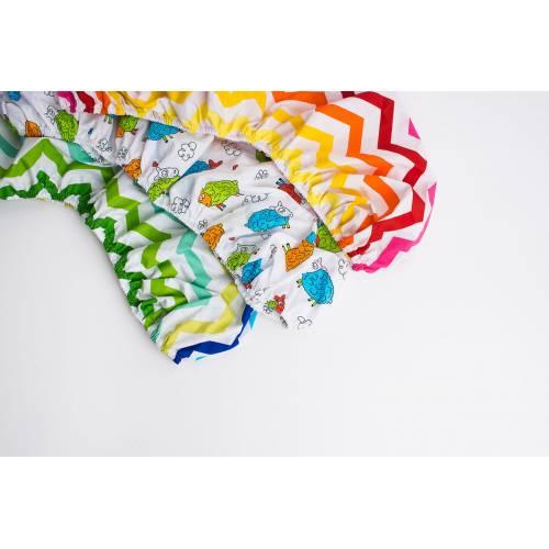 Простынь в коляску цветные волны