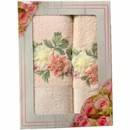 Набор полотенец 2 цветка