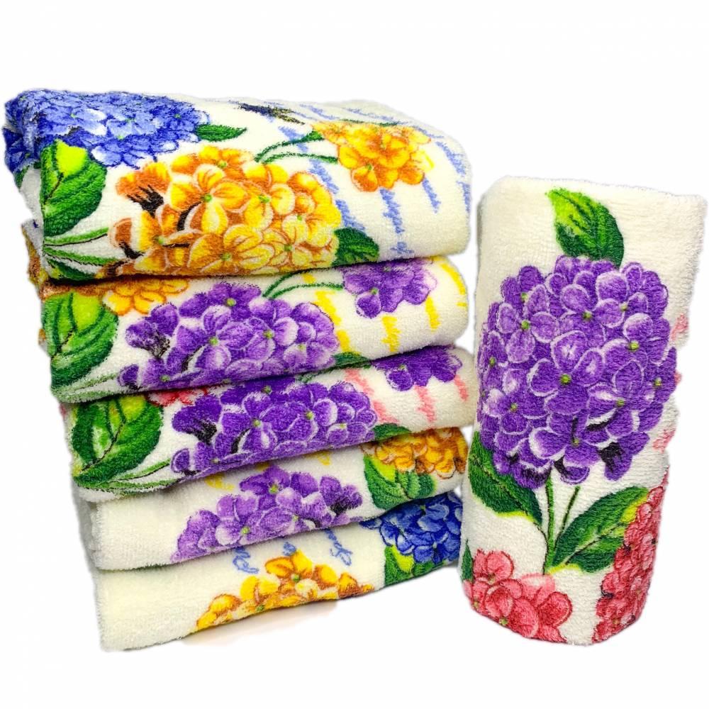 Полотенца баня цветы