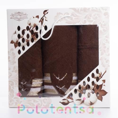 Набор полотенец Лист махра