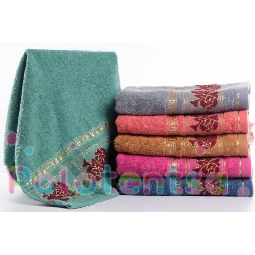 Полотенца для лица Роза бордо