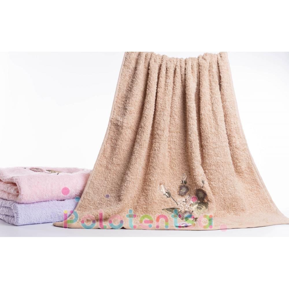 Полотенца банные фиалки