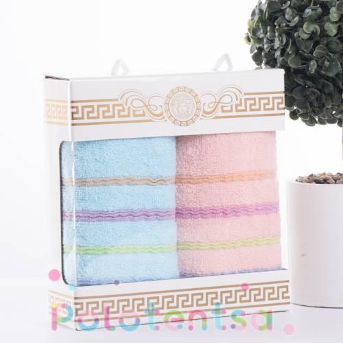 Набор полотенец Цветные полоски