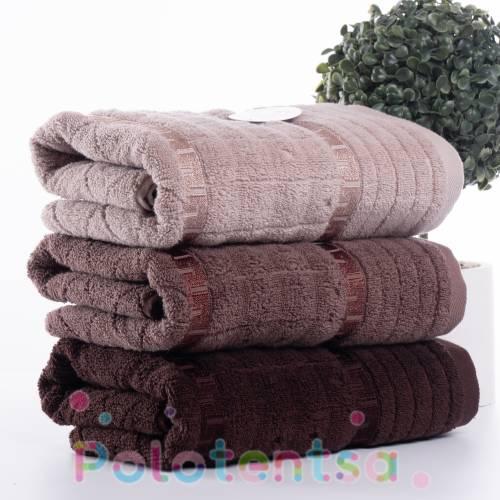 Полотенца банные версаче квадрат (коричневые)