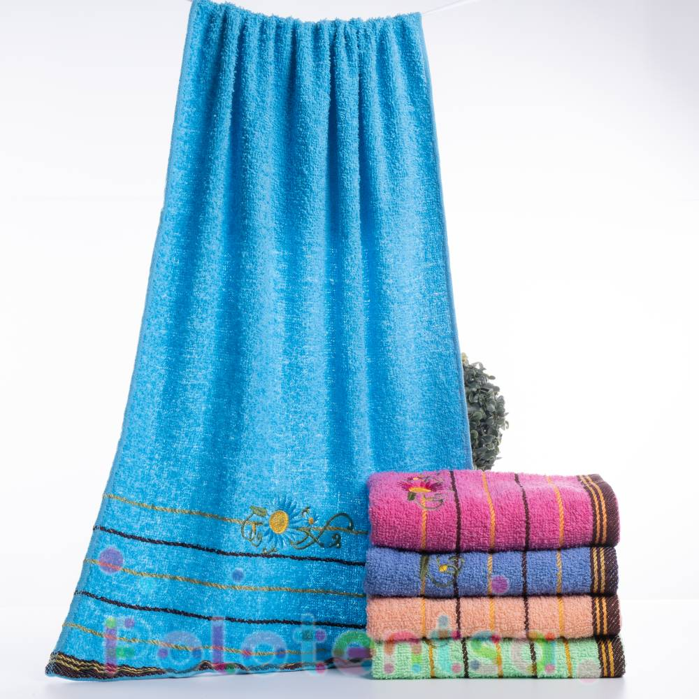 Полотенца банные Ромашка цветная