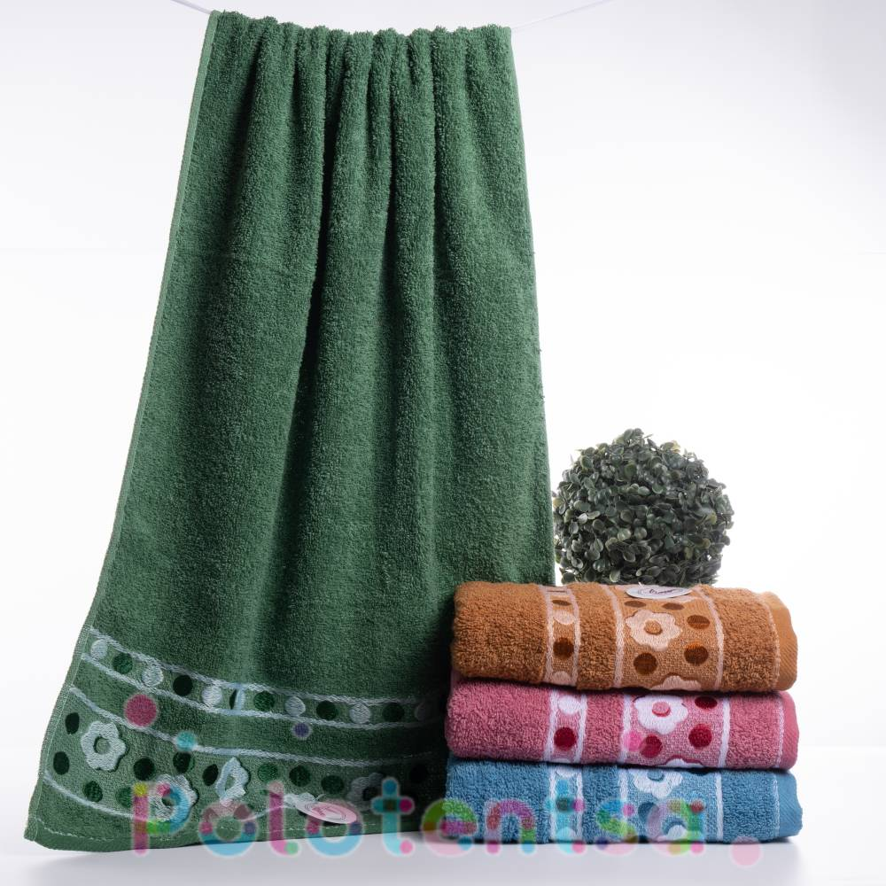 Полотенца банные цветы/круги