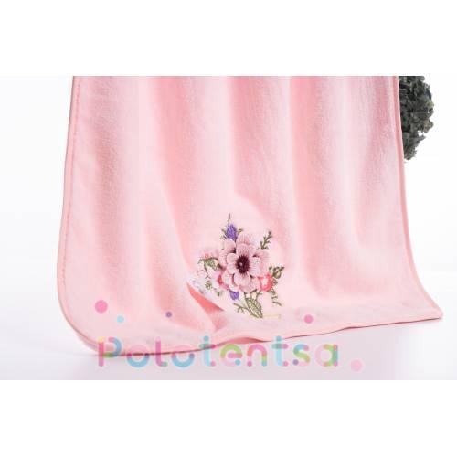Полотенца банные микрофибра Цветок