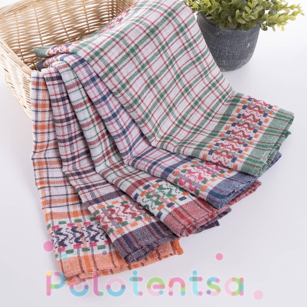 Полотенца для кухни клетка/вышивка