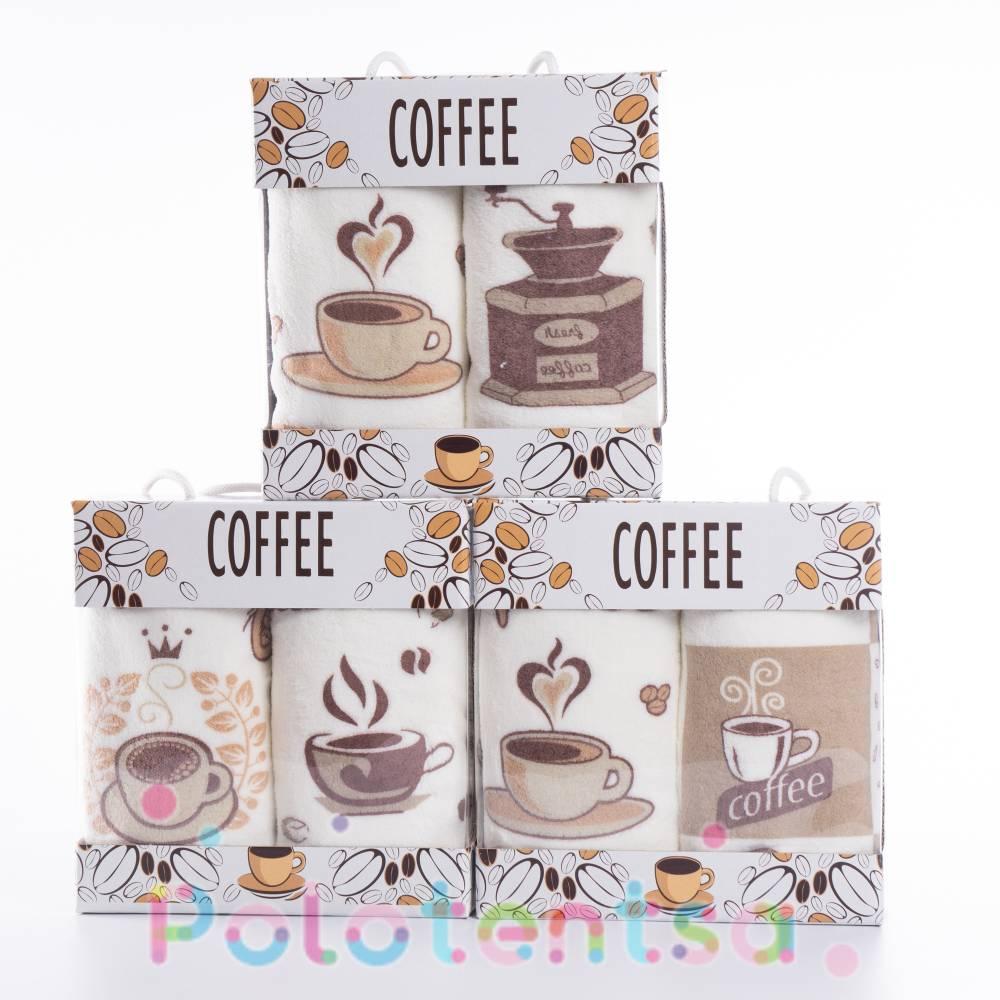 Набор полотенец микрофибра Кофе