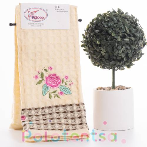 Полотенца для кухни вафельные Цветы