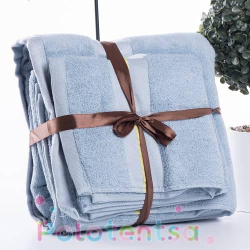 Набор махровых полотенец в сумочке
