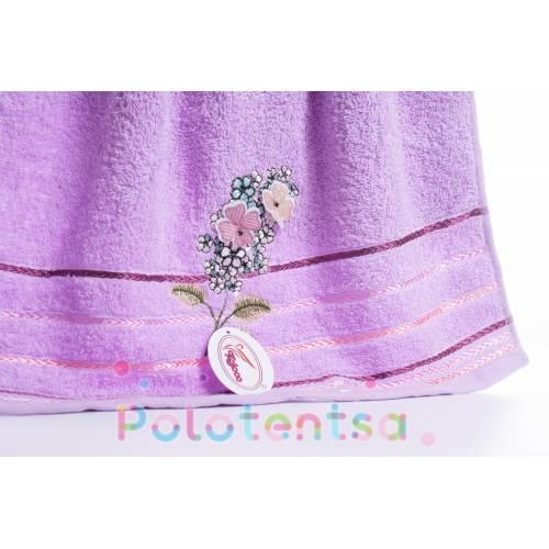 Полотенца банные Букет цветов