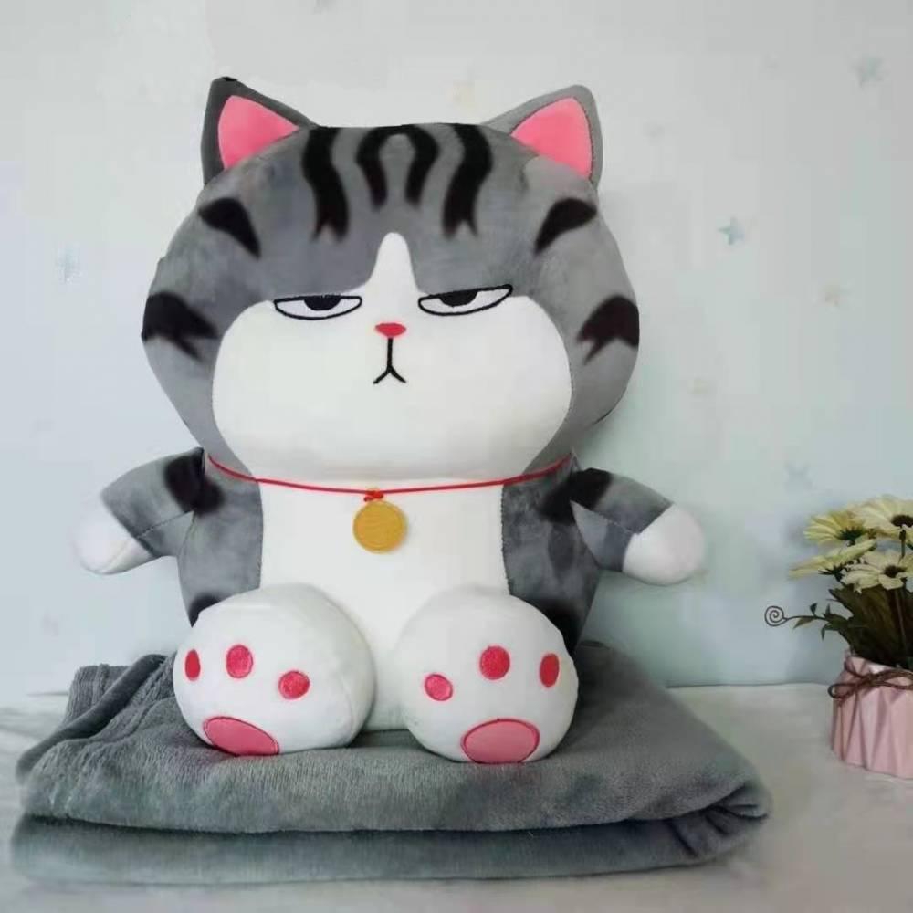 Детский плед/подушка Кот