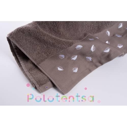 Полотенца банные Листочки/кант