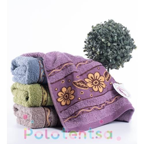 Полотенца для лица Коричневый цветок