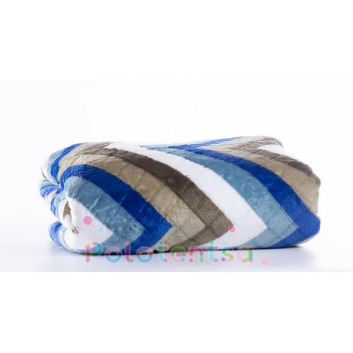 Плед зиг-заг разноцветный двухспальный
