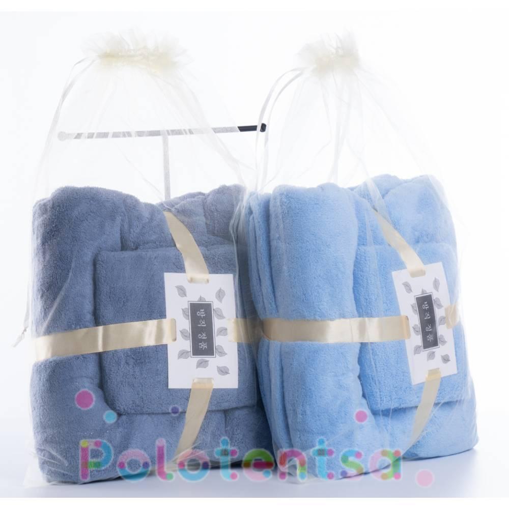 Набор полотенец микрофибра в мешочке