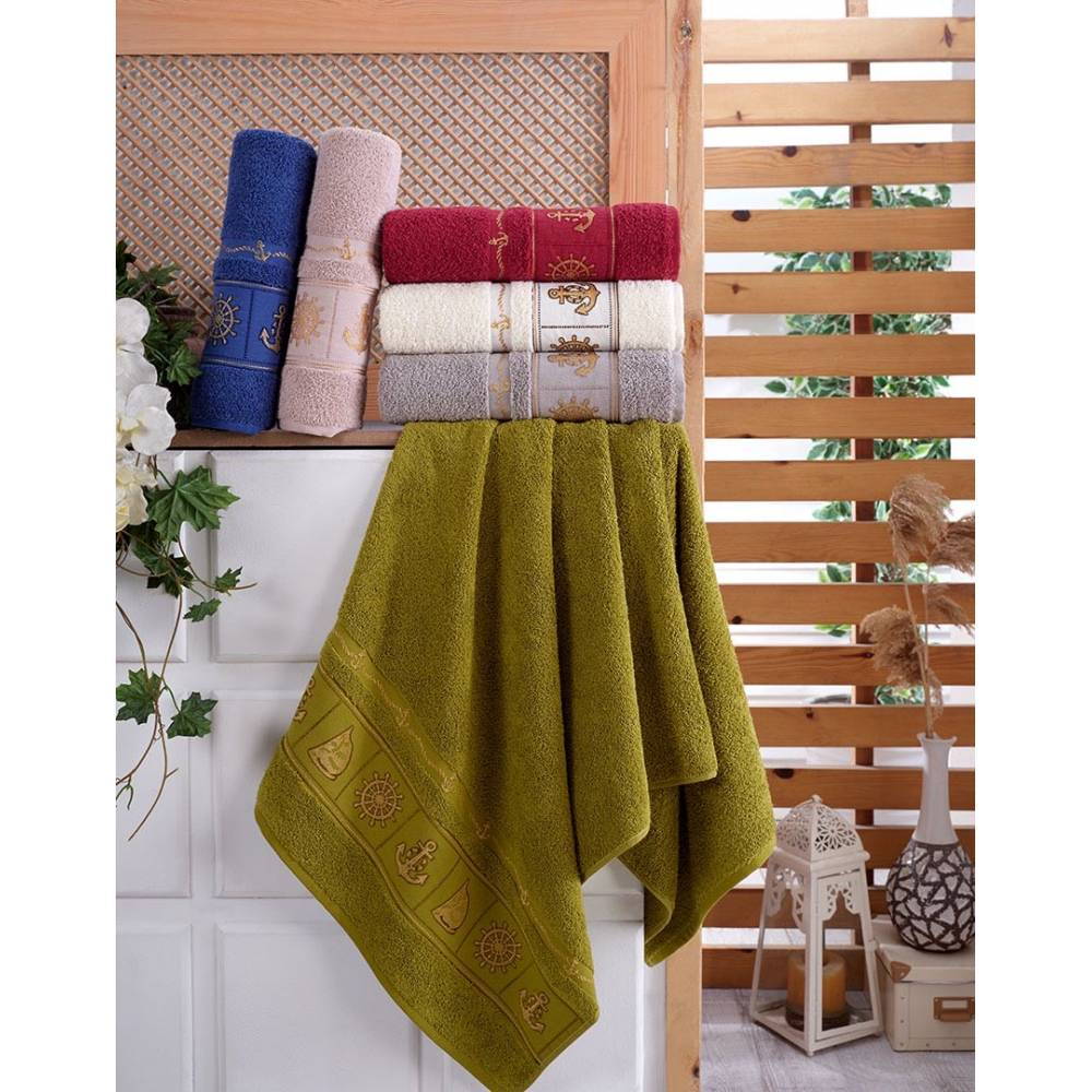 Турецкие полотенца для лица Якорь