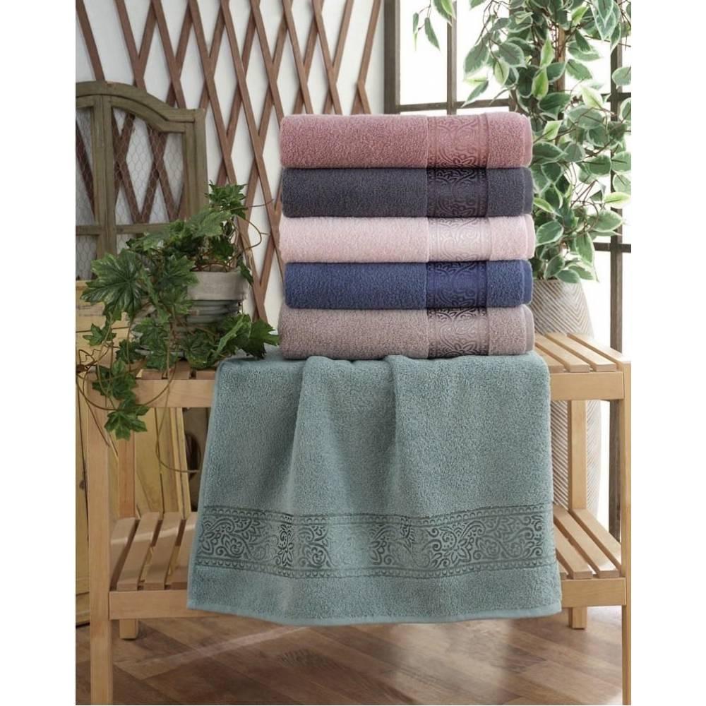 Турецкие полотенца для банные Цветы/вензель