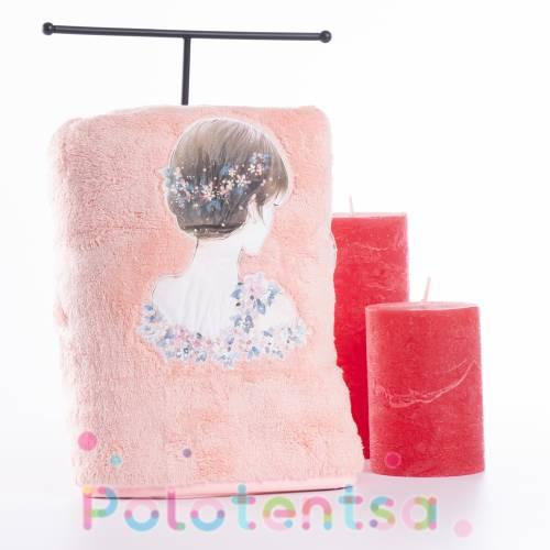Полотенца для лица микрофибра Девушка