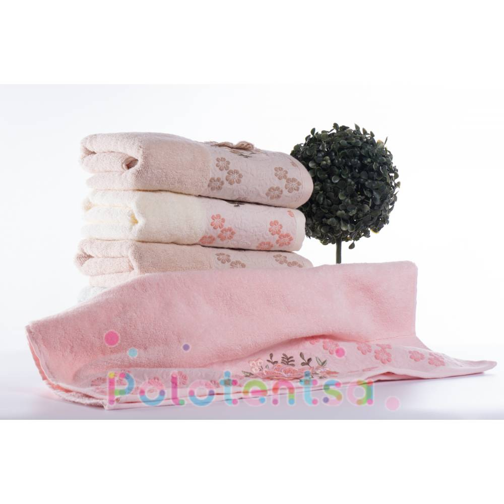 Полотенца банные Баюн Цветок