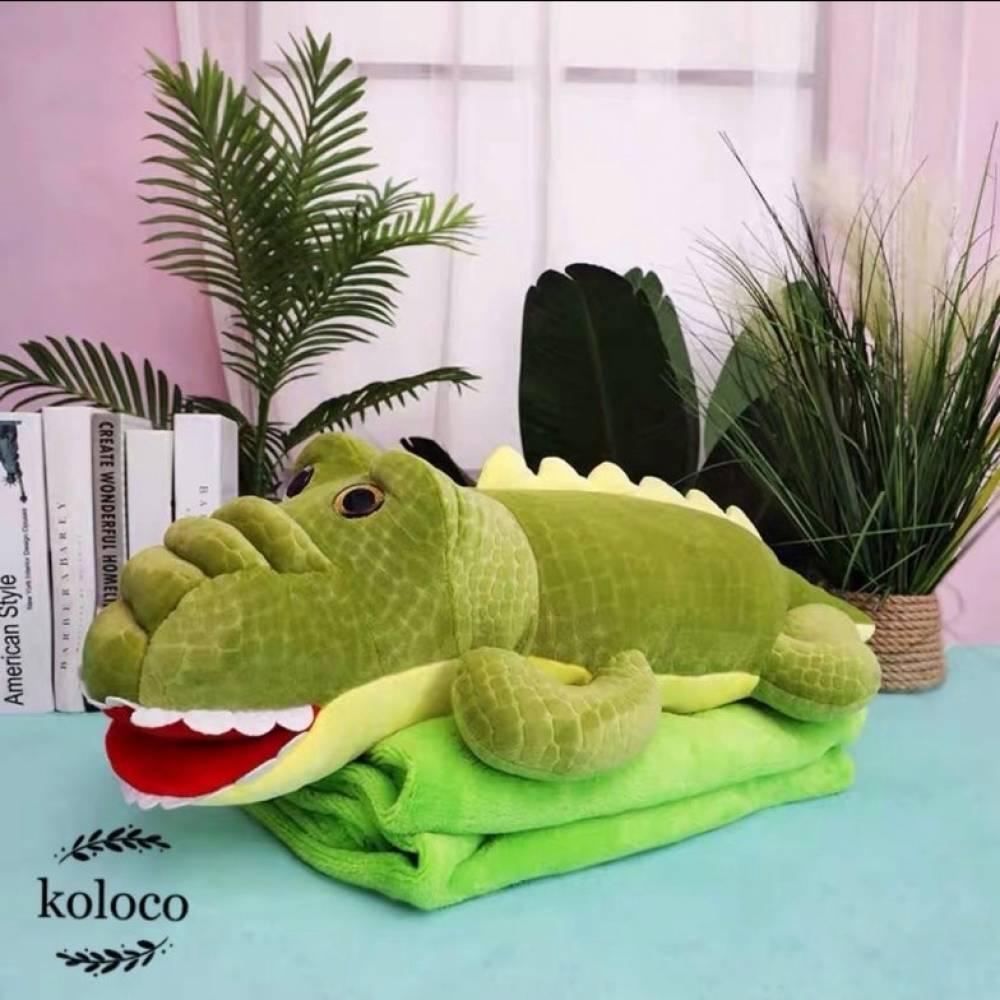 Детский плед/подушка Крокодил