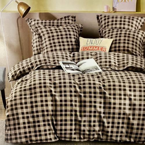 Комплект постельного белья Koloco (зеленая сумка) двуспальный