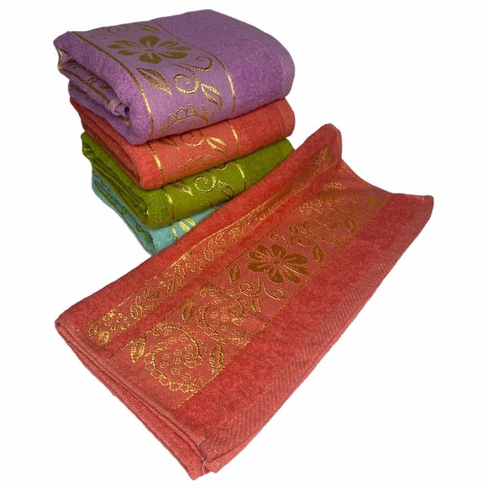 Полотенца банные Золотая Ромашка вышивка