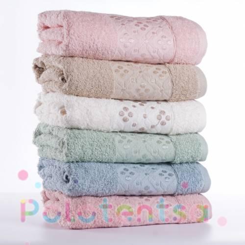 Турецкие полотенца для лица Горошки