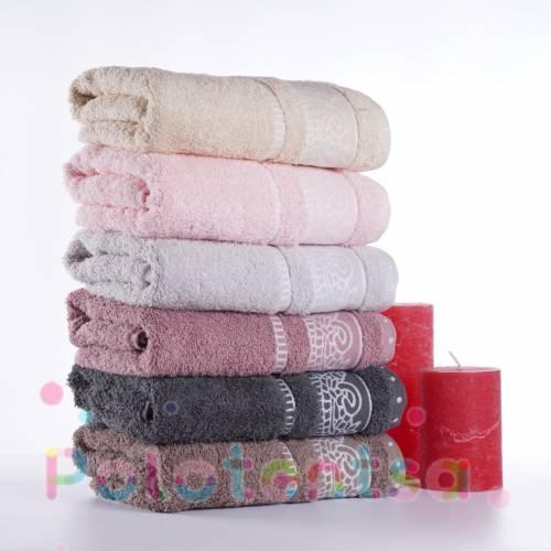 Турецкие полотенца банные Вензель-волна