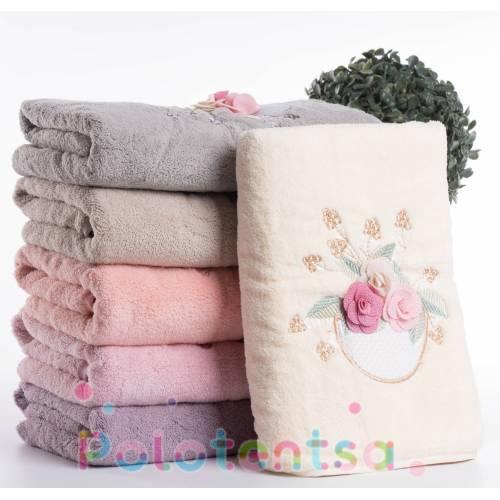 Полотенца для лица микрофибра Роза