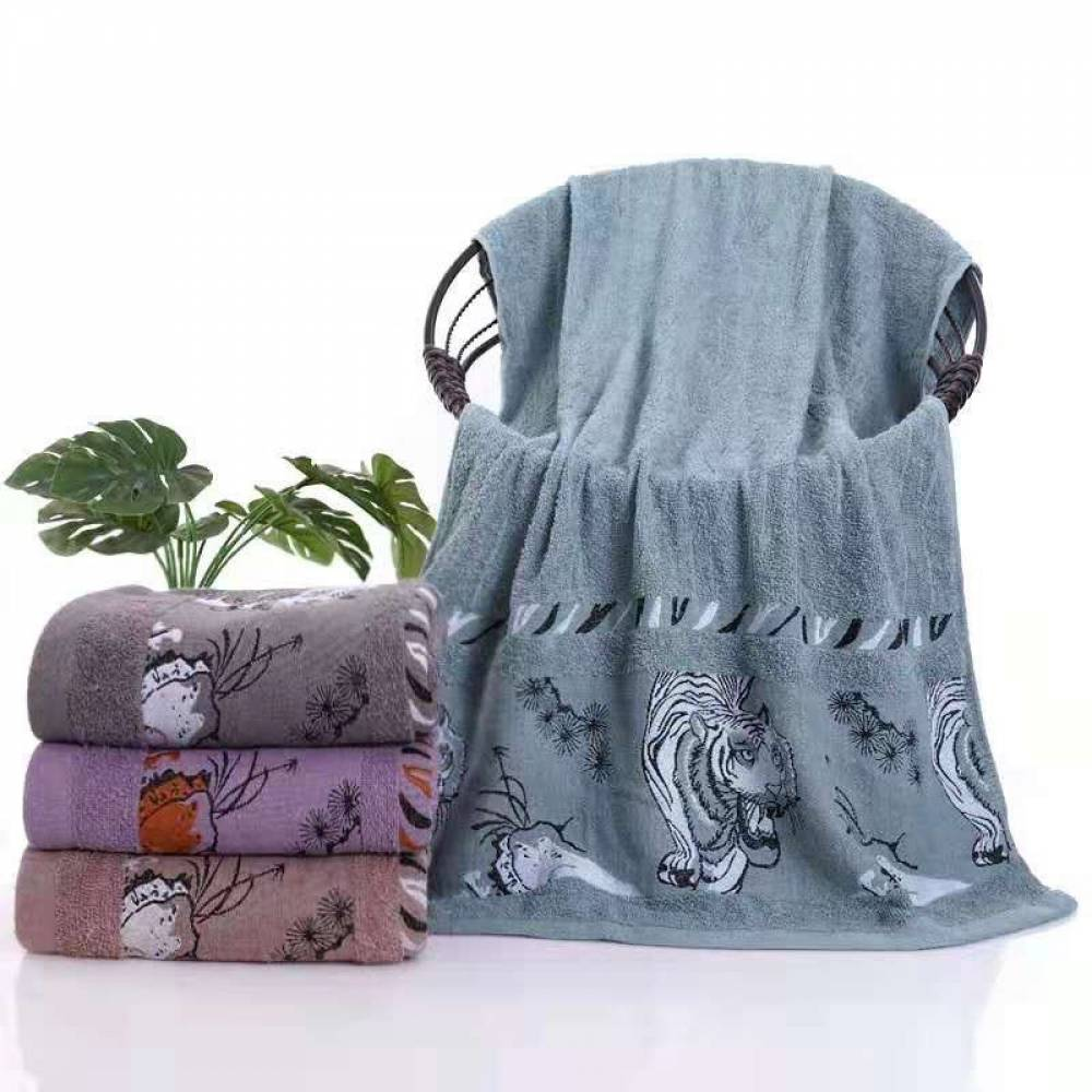 Полотенца банные Тигр дикий