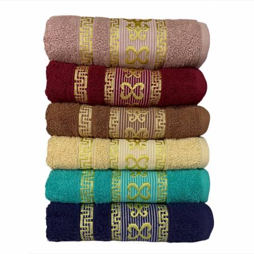 Турецкие полотенца для лица Золотой вензель