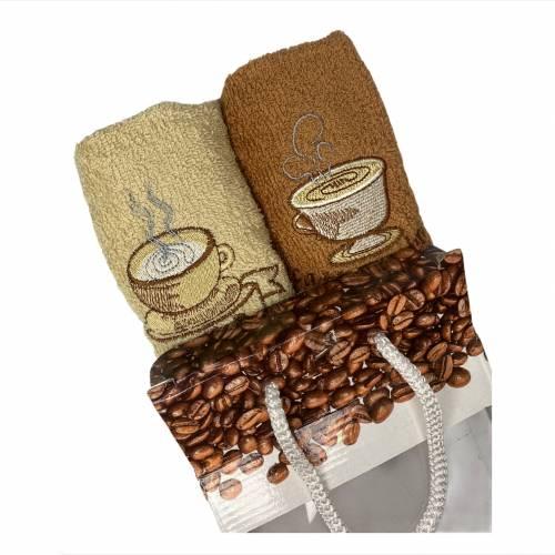 Набор турецких полотенец deep coffee