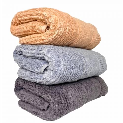 Турецкие банные полотенца однотонные Премиум