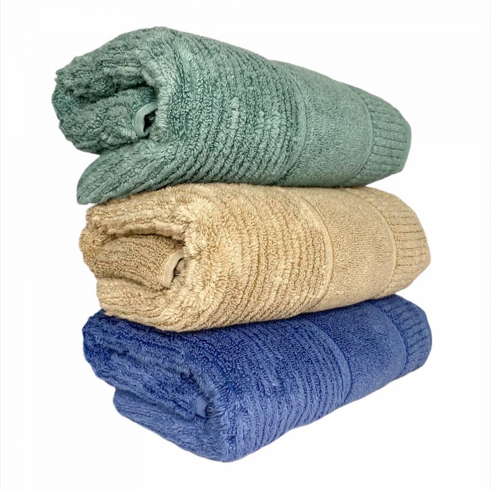 Турецкие полотенца для лица однотонные Премиум №2