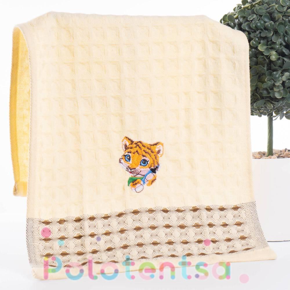Полотенца вафельные для рук Тигр