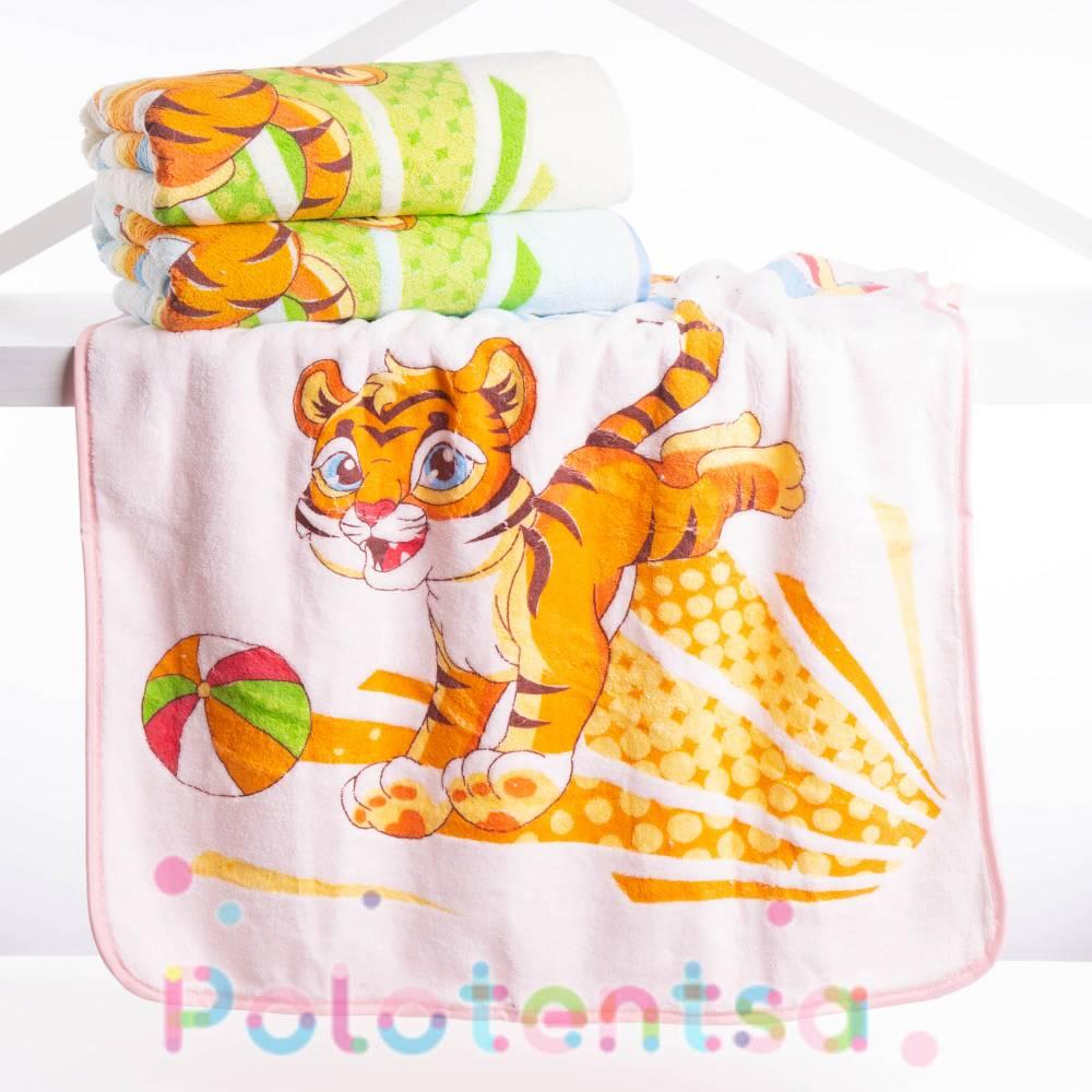 Полотенца для лица микрофибра Тигр 3