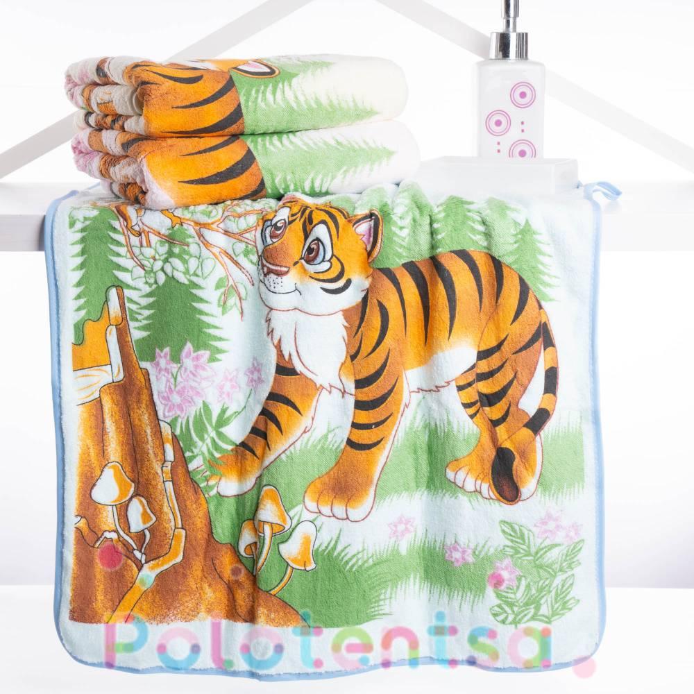 Полотенца банные микрофибра Тигр 2