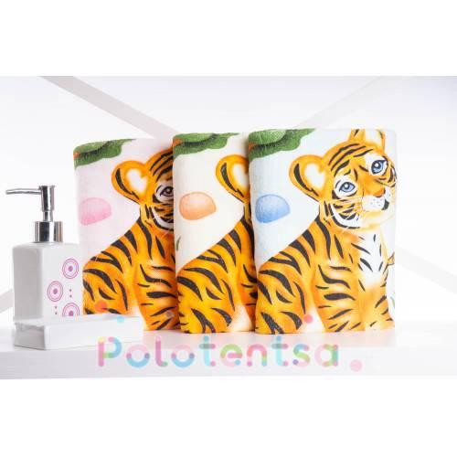 Полотенца для лица микрофибра Тигр 1