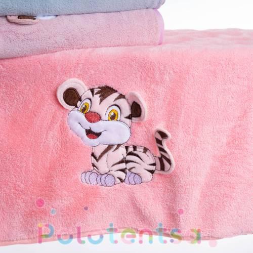 Полотенца для лица микрофибра однотонные Тигр
