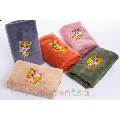 Полотенца для кухни микрофибра вышитый тигр