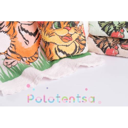 Полотенца для рук микрофибра Тигр/бабочка