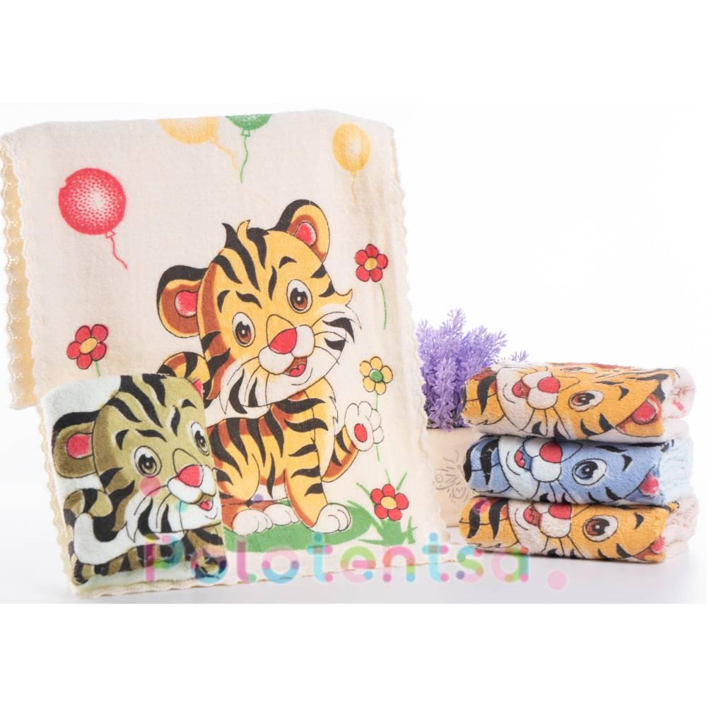 Полотенца для рук микрофибра Тигр/ромашки