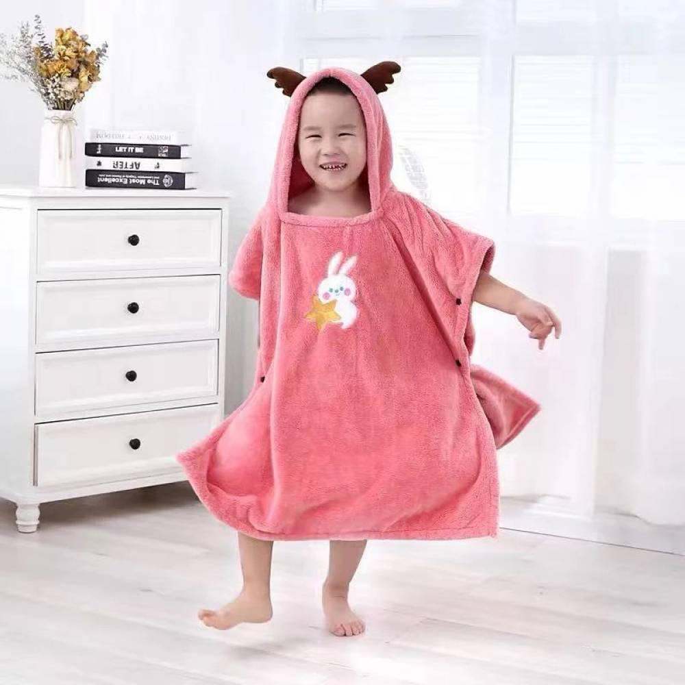 Пончо микрофибра детское