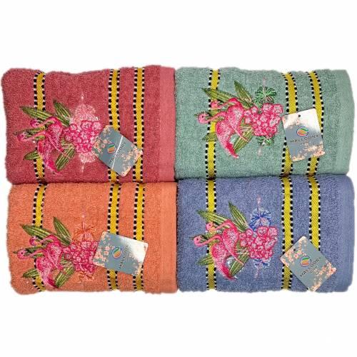 Полотенца банные Розовый Фламинго